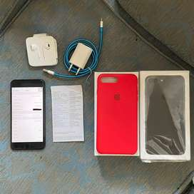 iPhone 7 Plus 128GB Blackmatte Fullset Original iBox