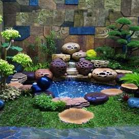 Kolam rellif cadas batu alam jasa pembuatan kolam rellif