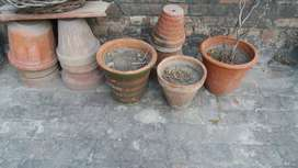 50 pots of 10 Inches Clay pot used Good condition