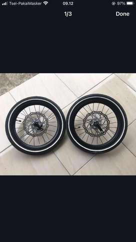 "Wheelset 16"" murni bawaan EG Maximus"