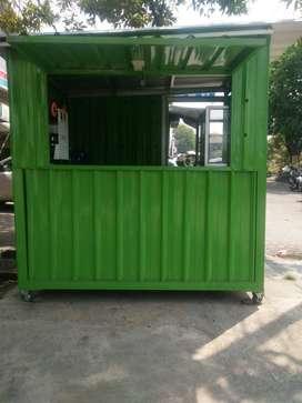 Booth Container Ukuran 150x200x210 (Kios mini/Gerobak)