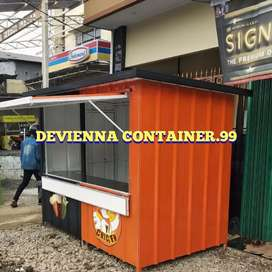 Container booth usaha booth bisnis friedchiken custom/foodcourt