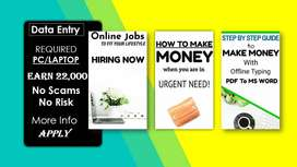 Part time data entry work from