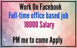 Work on Facebook- part-time, full-time office based job