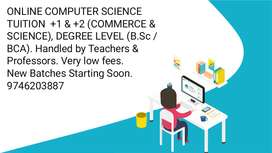ONLINE COMPUTER SCIENCE TUITION