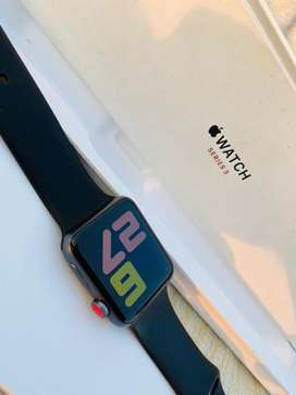 Apple  -watch series 3, 42 MM Aluminium case, iON-X Galss, GPS, WR-50M