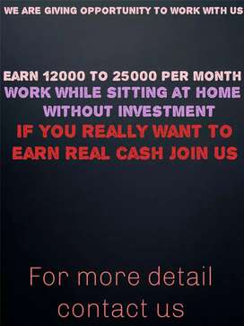 Work from home without investment marketing work apply now