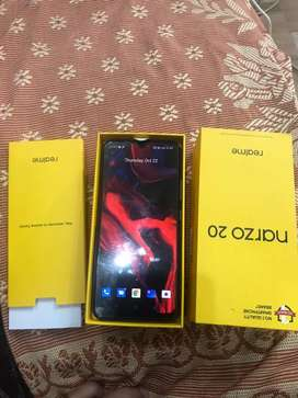 realme narzo 20 only 10 days old with all accessories