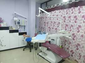 Fully furnished dental clinic for sale..