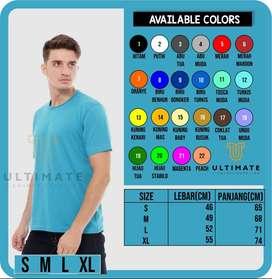 Kaos Kombed 30s Premium, Polos, S-XL,  Asli 100% cotton, bergaransi!