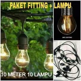 Paket Lampu Cafe dengan Lampu Led 2watt/Lampu Renteng Satu Sett Murah