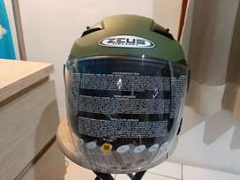 Helm ZEUS ZS-611 Green Dof BELUM PERNAH D PAKAI