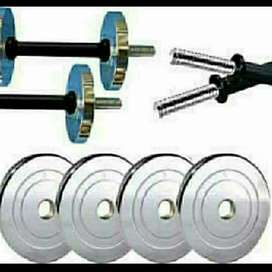 Dumbell and plate and bar