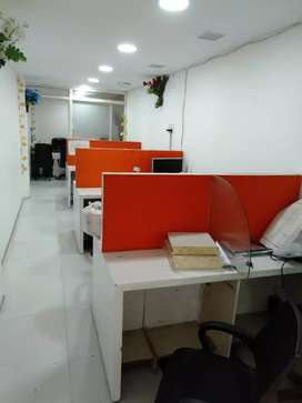 1 cabin,10 modular work station,  for rent in sector-6 Noida