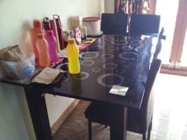 Glass Dining Table 4 seater
