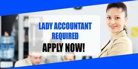 Lady accountant required in Kottayam