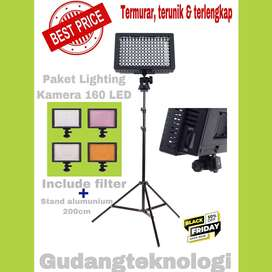 Paket lampu studio 160led+stand