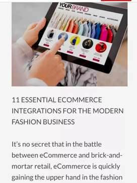 Online fashion industry