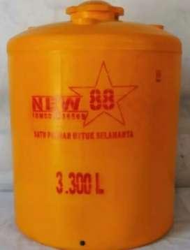 Tandon toren 3000 liter Kebumen bahan plastik hdpe tiga lapis