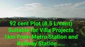 Plot for villa project  near Hill palace