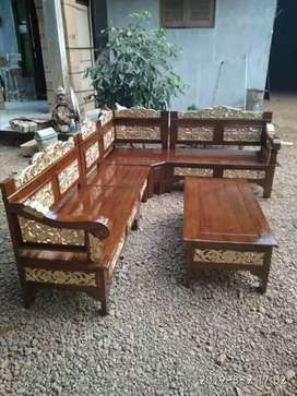Kursi tamu tamu full ukiran asli kayu jati