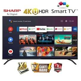 Paling Murah SHARP UHD 4K SMART TV 60 INCH 4T-C60AH1X WIFI RESMI