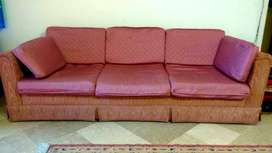 Imported 7 seater sofa set with removable cushions and covers