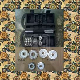 Dumbell Set Chrome Barbel 20 Kg // Sillegie FS 12E46