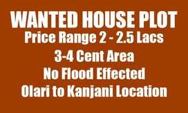 Wanted 3-4 cent plot (2-2.5 Lacks range)