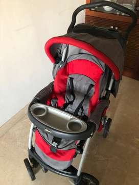 Chicco SE30 Cortina Travel System red and grey
