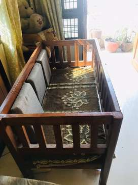 Shesham wood sofa/baby bed