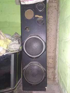 Jual 2 box speaker double 10""