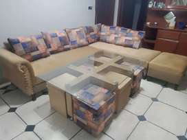Out class karner sofa 12Year foam warranty and mini dining 26000