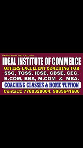 Home Tuition Service For Commerce Students.
