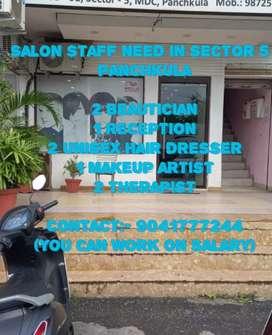 Salon staff need