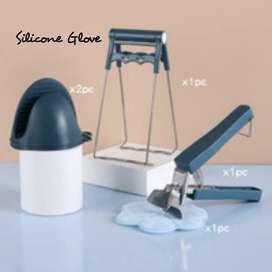 Silicone glove anti panas