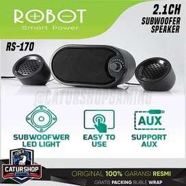 Robot RS170 Speaker 2.1CH Subwoofer Led RS 170 USB Laptop HP