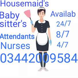 Housemaid's Babysitters cook's Driver's Chef Attendants Nurse Nanny 24