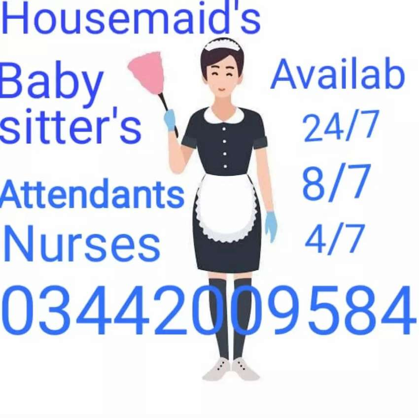 Housemaid's Babysitters cook's Driver's Chef Attendants Nurse Nanny 24 0