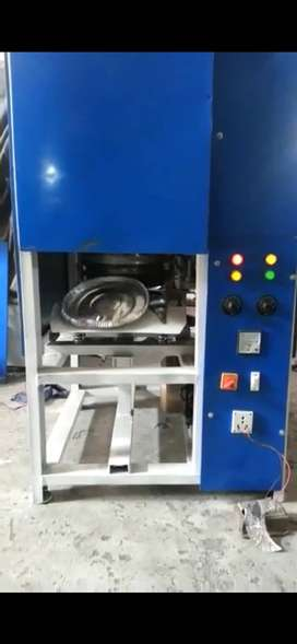 NEW FULLY AUTOMATIC CRANK PAPER PLATE MAKING MACHINE WITH RAW MATERIAL