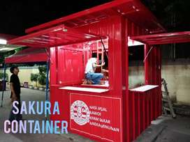 Booth container, box container, booth ayam bakar, booth minuman, booth