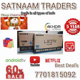 32 INCHES SMART LED 4K UHD New 4 Years Warranty