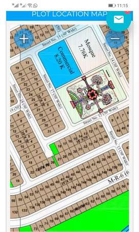 Well located 10 Marla plot in phase 8 extension bahria town