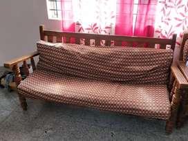 3+1+1 teak wood sofa for sale