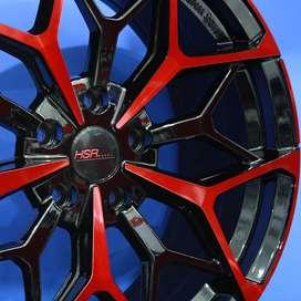Velg/Pelek Mobil HSR - MYTH01 Ring18x8 Lubang5 BK/RED