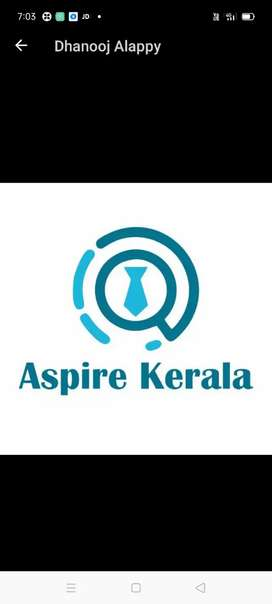 Aspire job consultancy wanted lady office staff @ chalakudy press