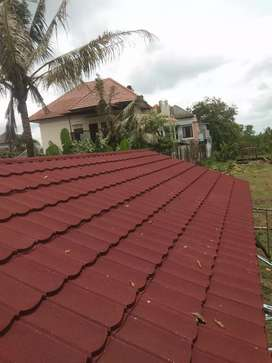 Kontruksi atap baja ringan bahan terpasang