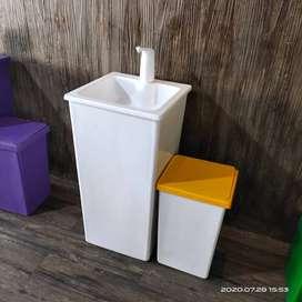 wastafel putih atau portable wastafel