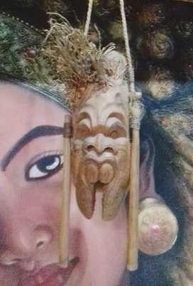 Patung antik dari bambu tua koleksi lawas pajangan langka unik vintage
