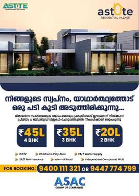 Residential villas @ cheruvathur